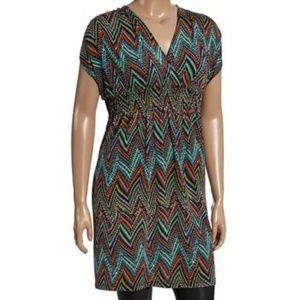 Chevron V-neck Dress (NWOT)